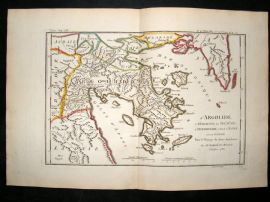 Barthelemy 1790 Antique Map Argolis, Greece